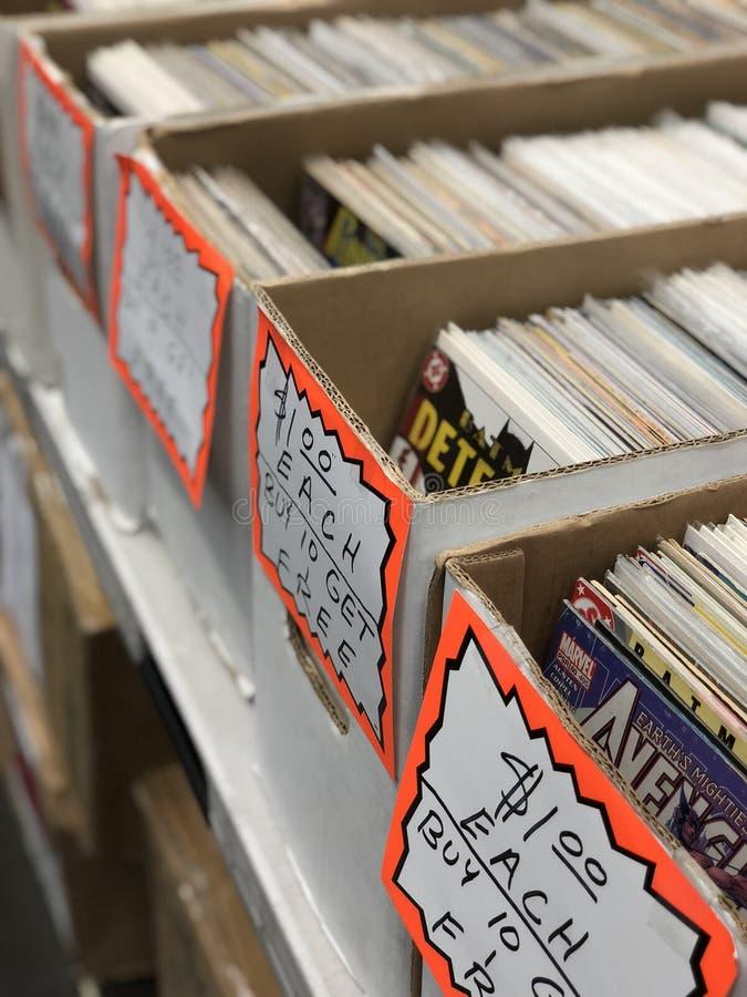 Βιβλία κόμικς Εποχής Προς Πώληση στοκ φωτογραφίες