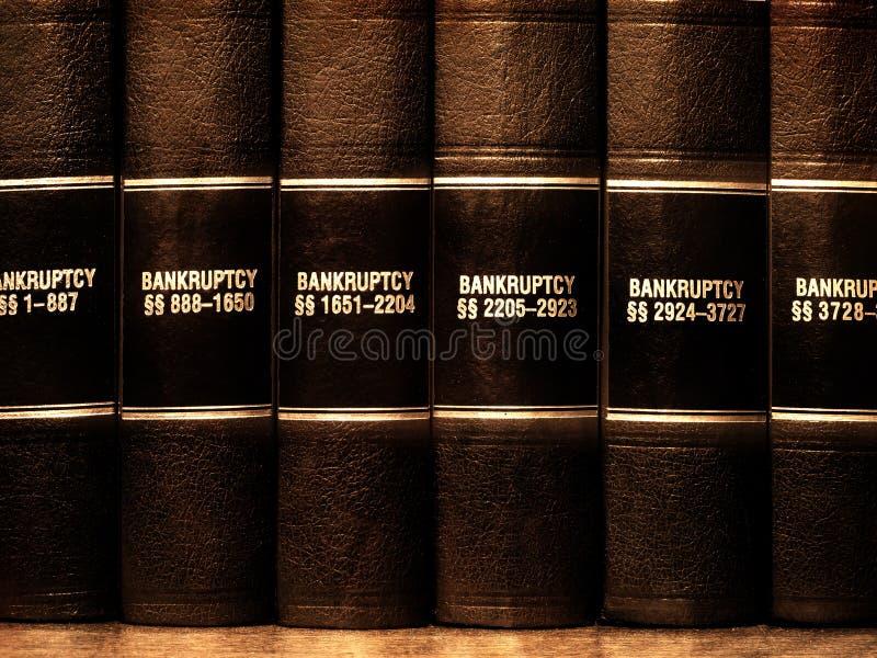 Βιβλία νόμου στην πτώχευση στοκ φωτογραφία