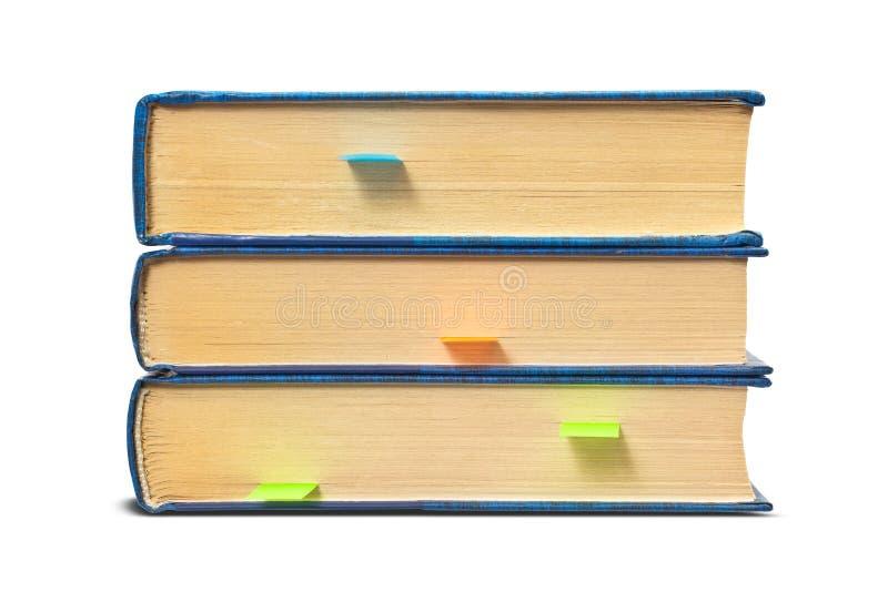 βιβλία σελιδοδεικτών στοκ εικόνες