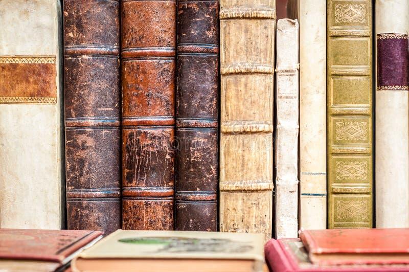 Βιβλία σε μια σειρά Παλαιά χειρόγραφα Παλαιά βιβλία βιβλιοθηκών στοκ φωτογραφίες με δικαίωμα ελεύθερης χρήσης