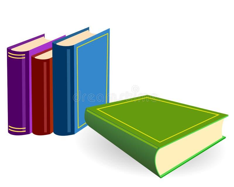 βιβλία τέσσερα πίνακας απεικόνιση αποθεμάτων