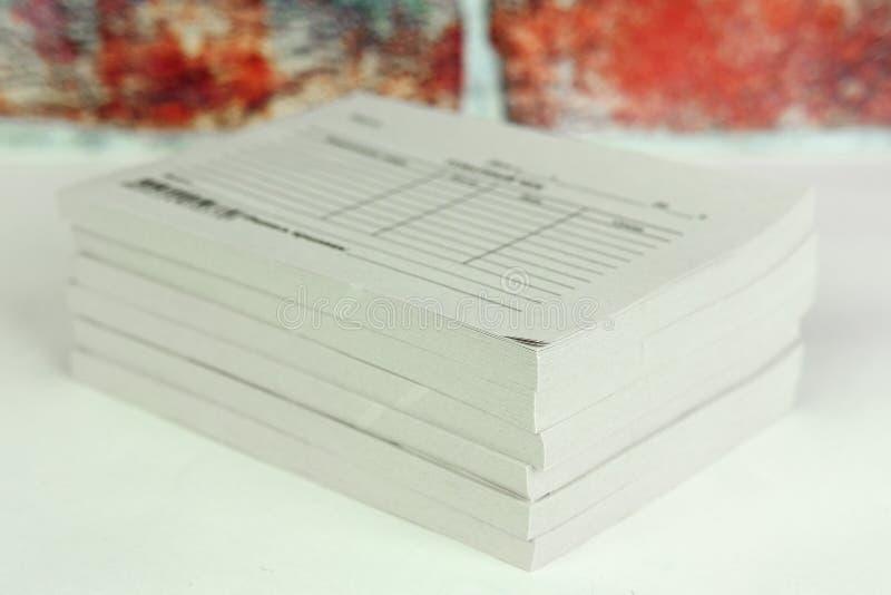 Βιβλία των παραλαβών στοκ φωτογραφία με δικαίωμα ελεύθερης χρήσης