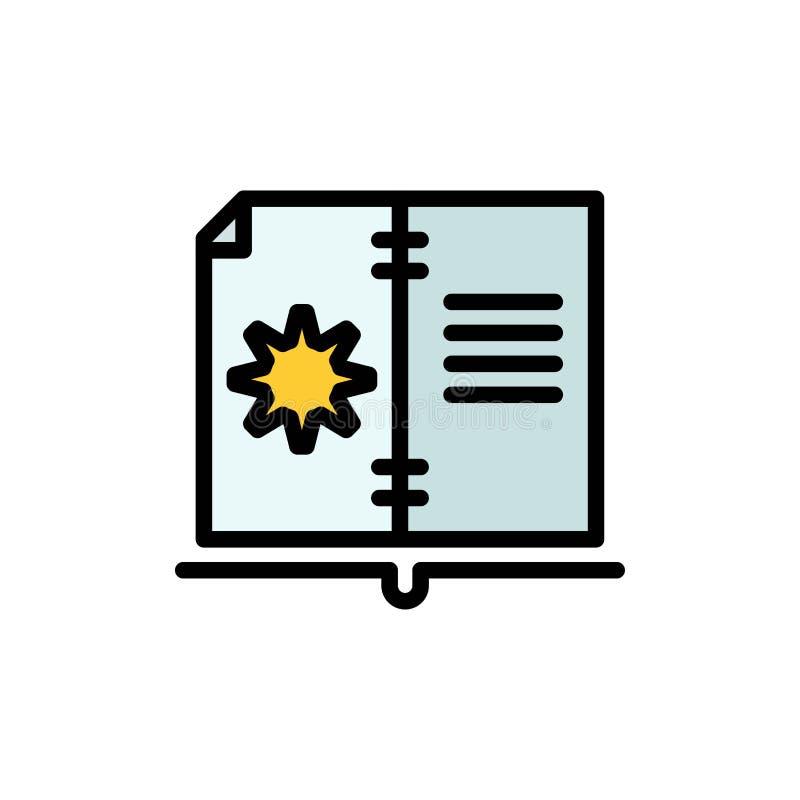 Βιβλίο, οδηγός, υλικό, επίπεδο εικονίδιο χρώματος οδηγίας Διανυσματικό πρότυπο εμβλημάτων εικονιδίων ελεύθερη απεικόνιση δικαιώματος