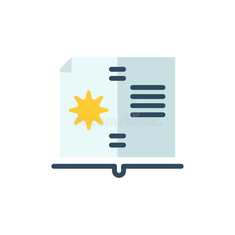 Βιβλίο, οδηγός, υλικό, επίπεδο εικονίδιο χρώματος οδηγίας Διανυσματικό πρότυπο εμβλημάτων εικονιδίων διανυσματική απεικόνιση