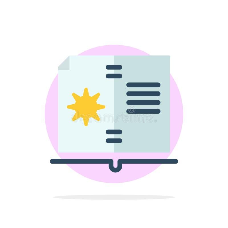 Βιβλίο, οδηγός, υλικό, οδηγίας αφηρημένο κύκλων εικονίδιο χρώματος υποβάθρου επίπεδο διανυσματική απεικόνιση