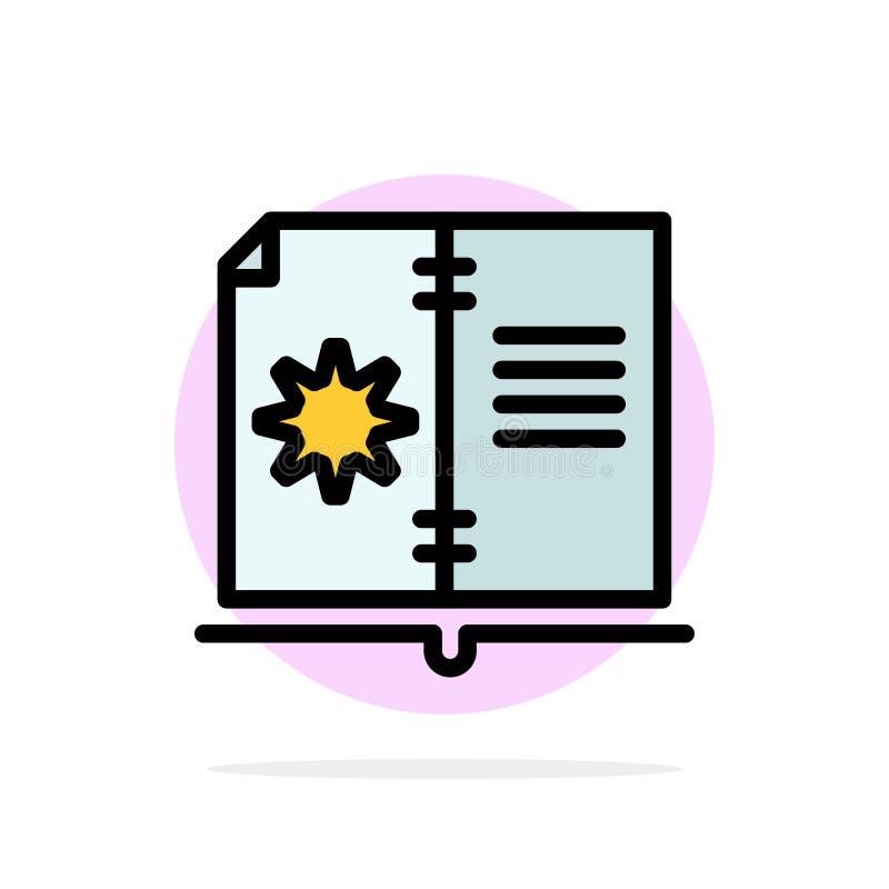 Βιβλίο, οδηγός, υλικό, οδηγίας αφηρημένο κύκλων εικονίδιο χρώματος υποβάθρου επίπεδο απεικόνιση αποθεμάτων