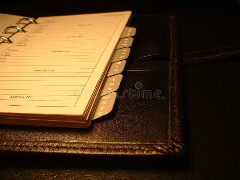 βιβλίο προσφωνήσεων Στοκ Φωτογραφία