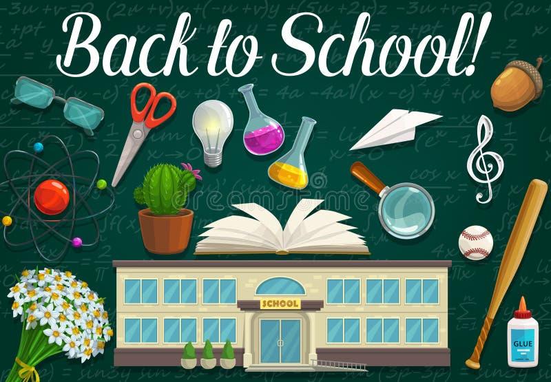 Βιβλίο σπουδαστών, προμήθειες εκπαίδευσης και σχολείο διανυσματική απεικόνιση
