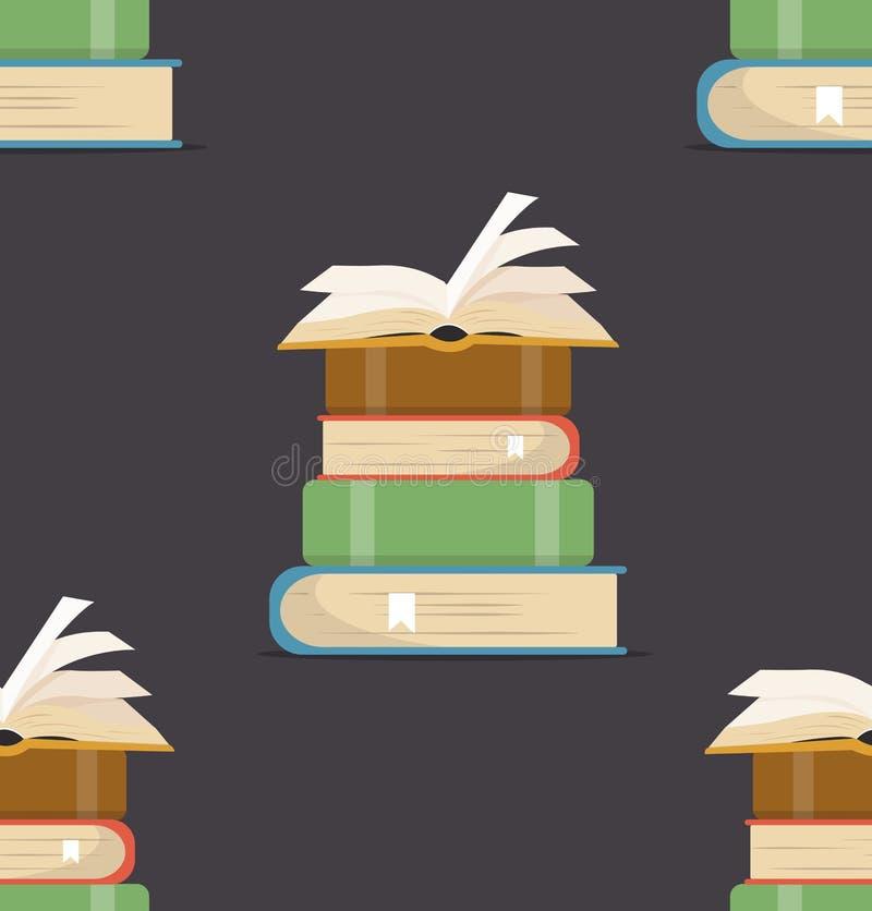 Βιβλίο του άνευ ραφής σχεδίου σωρών ελεύθερη απεικόνιση δικαιώματος