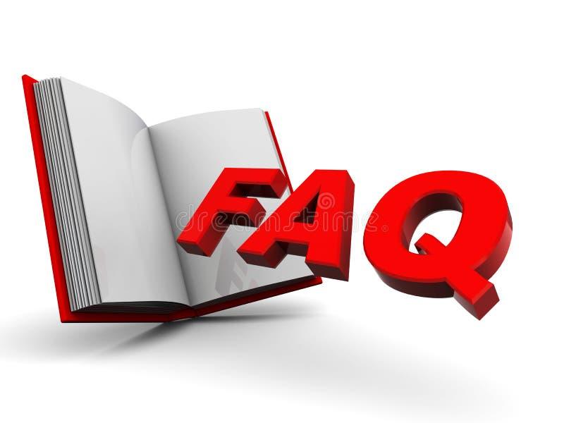βιβλίο faq διανυσματική απεικόνιση