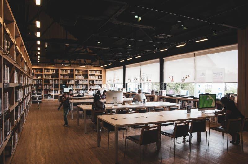 Βιβλιοθήκη για την εκμάθηση των τεχνών στοκ εικόνες