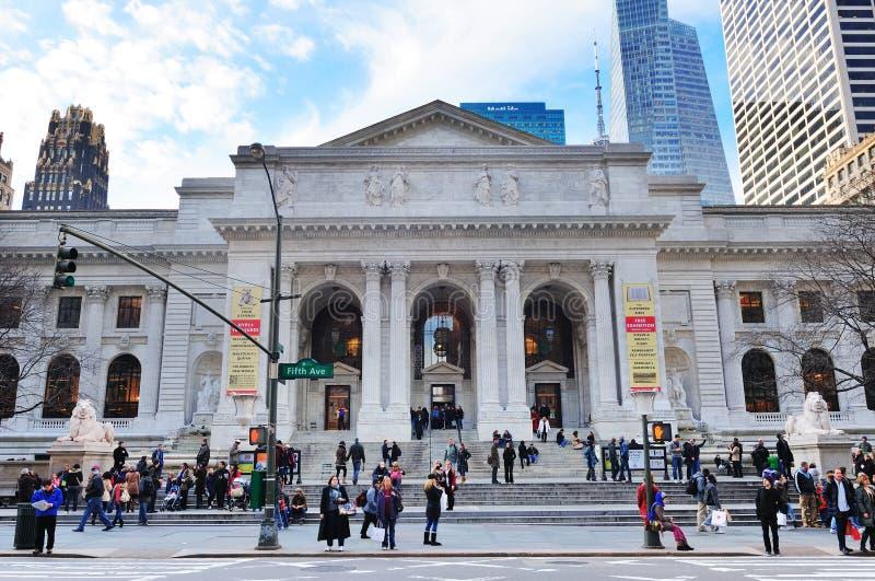 βιβλιοθήκη νέα δημόσια Υόρκη στοκ εικόνες