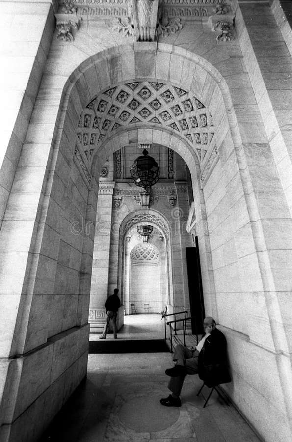 βιβλιοθήκη νέα δημόσια Υόρκη στοκ εικόνα με δικαίωμα ελεύθερης χρήσης