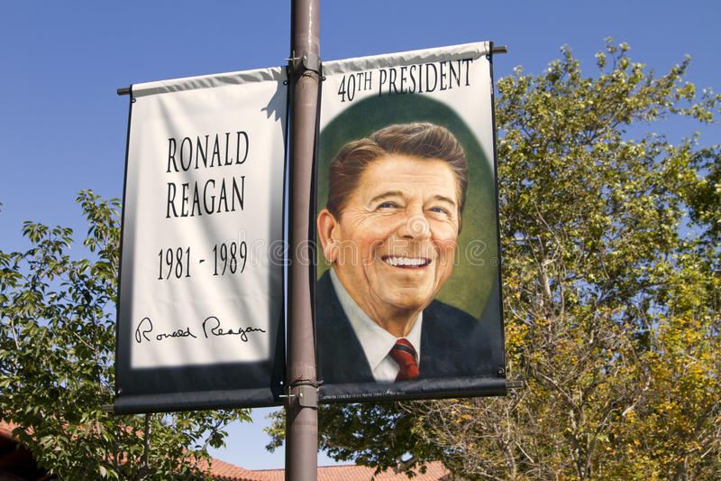 βιβλιοθήκη ο προεδρικός reagan Ronald στοκ εικόνες