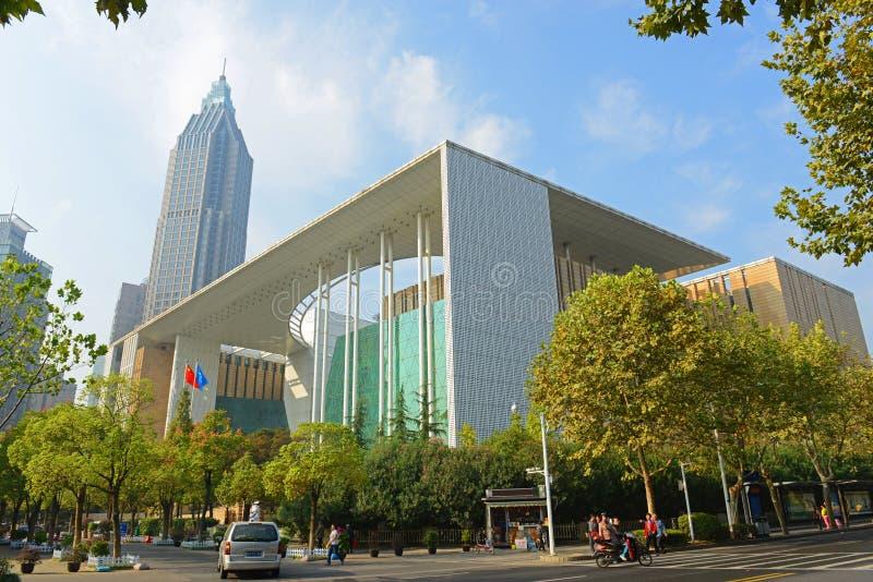 Βιβλιοθήκη του Ναντζίνγκ, Ναντζίνγκ, Κίνα στοκ εικόνα με δικαίωμα ελεύθερης χρήσης