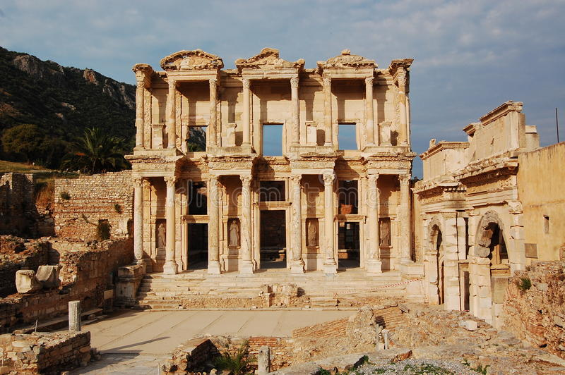 βιβλιοθήκη celsus στοκ φωτογραφία με δικαίωμα ελεύθερης χρήσης