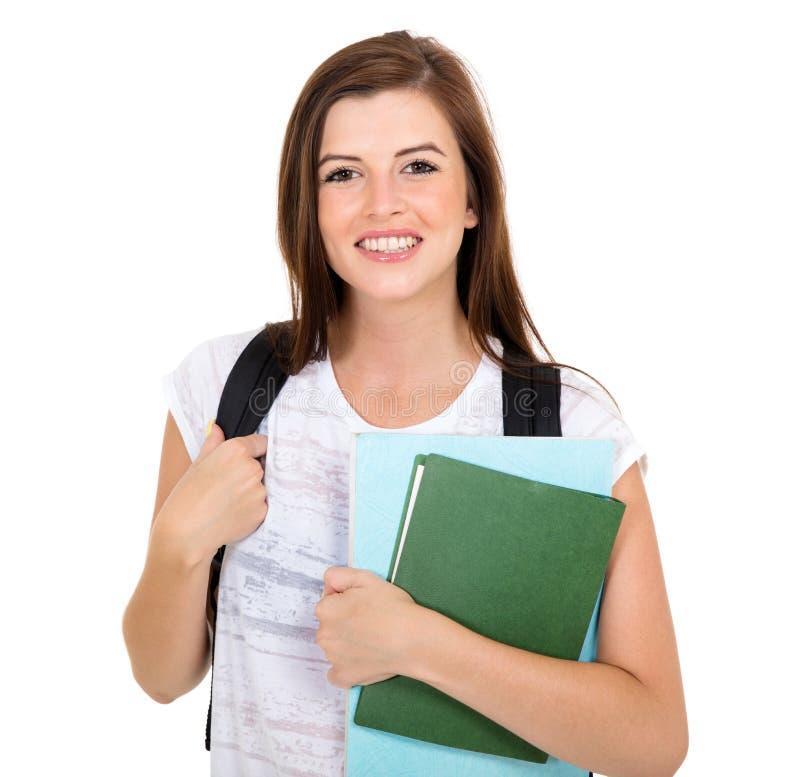 Βιβλία εκμετάλλευσης κοριτσιών κολλεγίου στοκ εικόνες