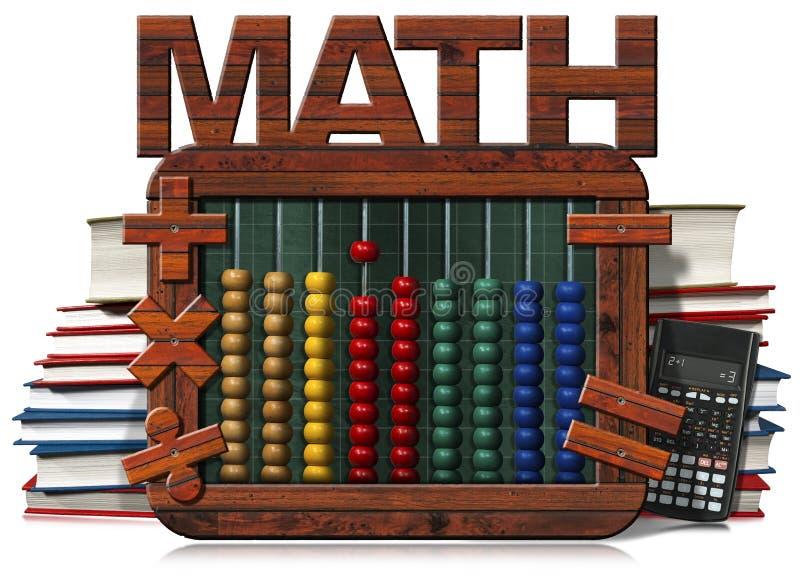 Βιβλία και υπολογιστής Math κειμένων πινάκων αβάκων διανυσματική απεικόνιση
