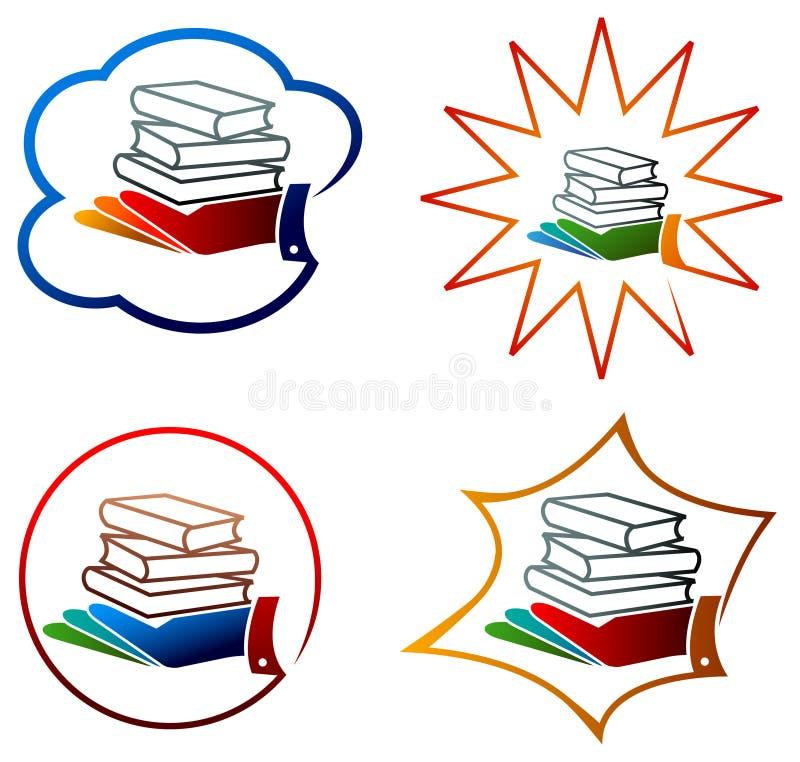 Βιβλία με το χέρι διανυσματική απεικόνιση