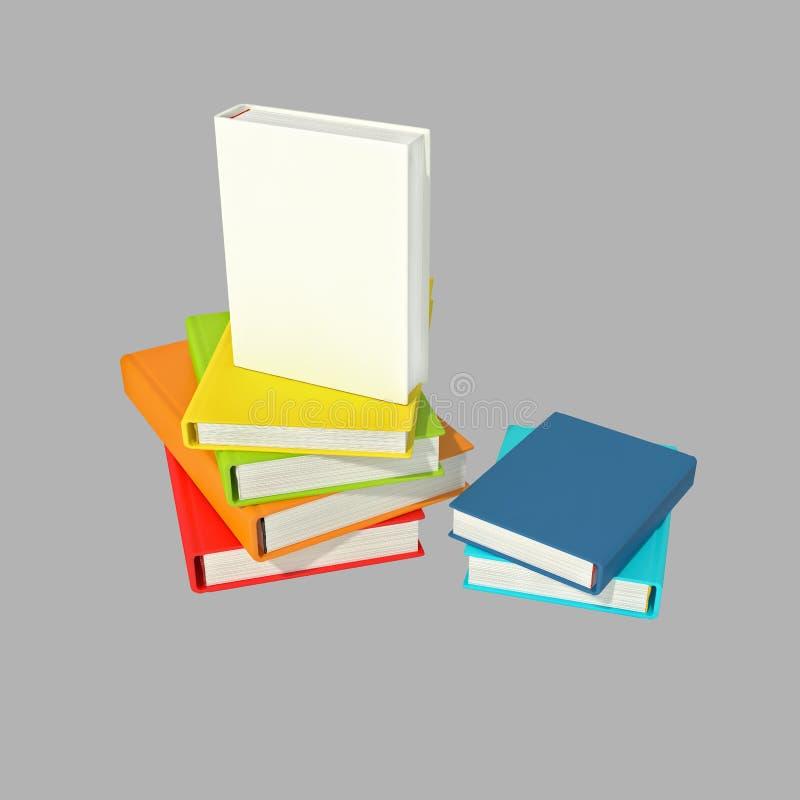Βιβλία που απομονώνονται ελεύθερη απεικόνιση δικαιώματος