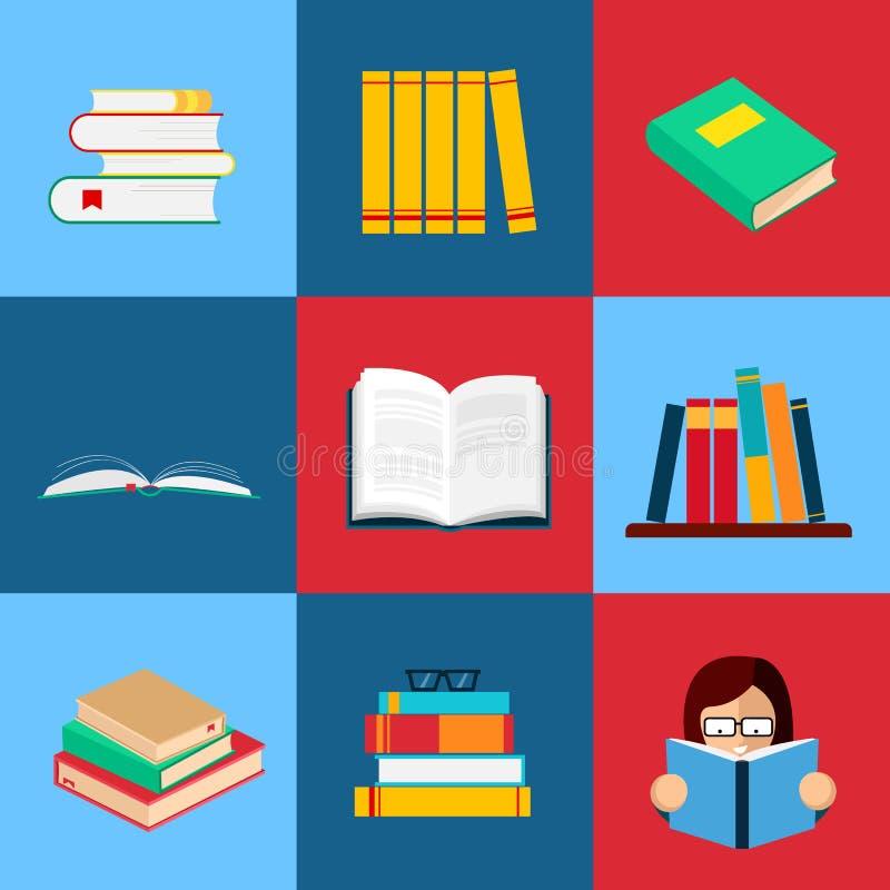 βιβλία που τίθενται διανυσματικά απεικόνιση αποθεμάτων