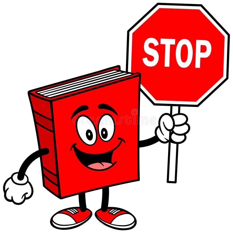 Βιβλίο με το σημάδι στάσεων απεικόνιση αποθεμάτων