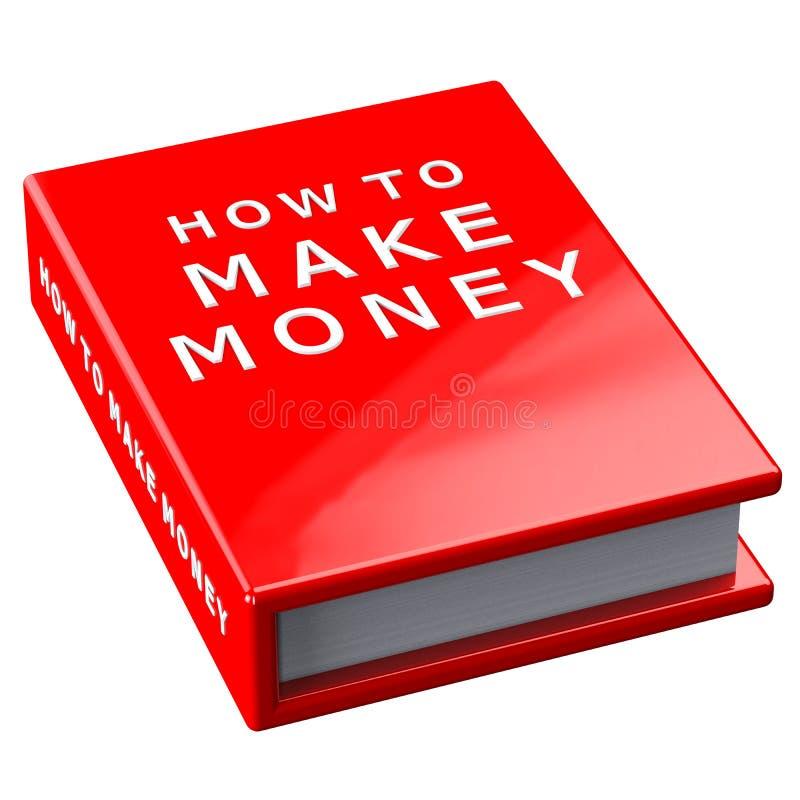 Βιβλίο πώς να κάνει τα χρήματα στο άσπρο υπόβαθρο ελεύθερη απεικόνιση δικαιώματος