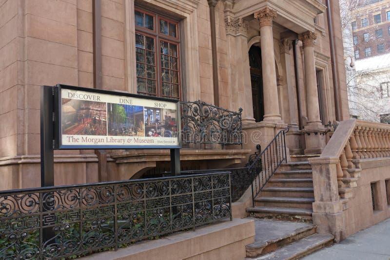 Βιβλιοθήκη & μουσείο του Morgan στοκ εικόνες