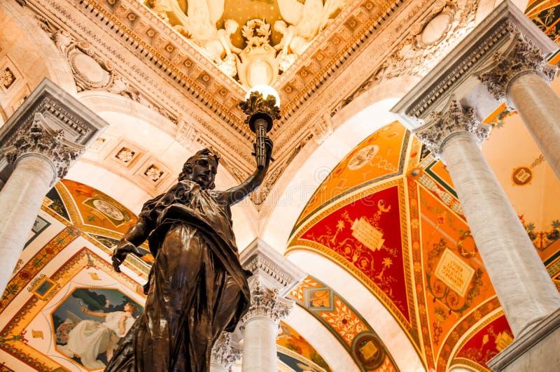 Βιβλιοθήκη του Κογκρέσου, Ουάσιγκτον, συνεχές ρεύμα, ΗΠΑ στοκ φωτογραφία