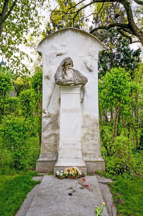 ΒΙΕΝΝΗ, ΑΥΣΤΡΙΑ - 23 ΑΠΡΙΛΊΟΥ 2016: Τάφος του συνθέτη Brahms στοκ εικόνες