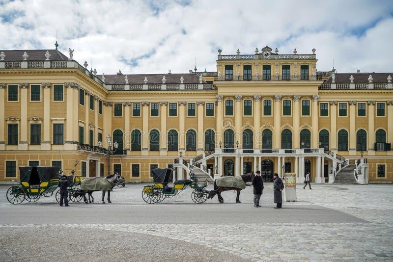 ΒΙΕΝΝΗ, AUSTRIA/EUROPE - 23 ΣΕΠΤΕΜΒΡΊΟΥ: Άλογα και μεταφορές στοκ εικόνες με δικαίωμα ελεύθερης χρήσης