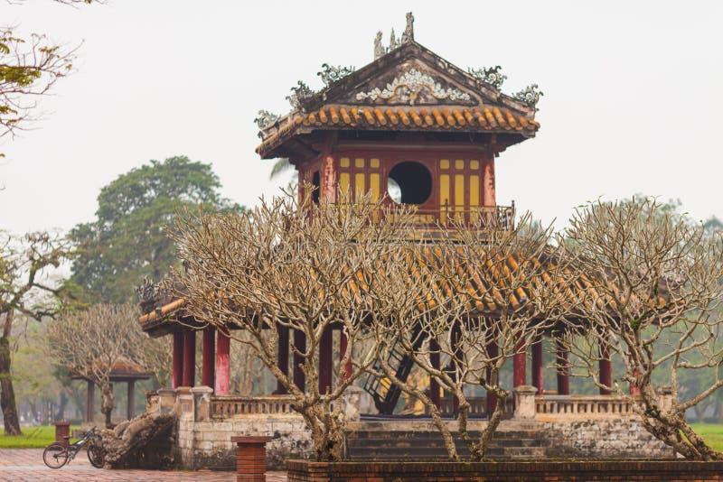 Βιετνάμ, χρώμα Phu Van Lau Pavilion στην ακρόπολη χρώματος στοκ εικόνες