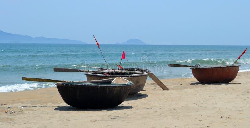 Βιετναμέζικες βάρκες καλαθιών στοκ φωτογραφία με δικαίωμα ελεύθερης χρήσης