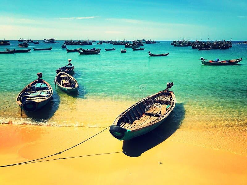 Βιετναμέζικες βάρκες στοκ εικόνες