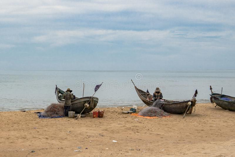 Βιετναμέζικη εργασία ψαράδων στοκ εικόνες