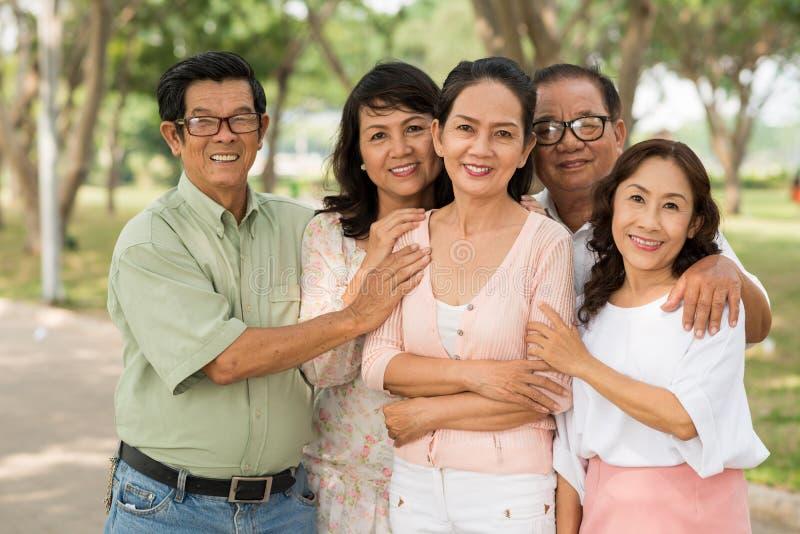 Βιετναμέζικοι ηλικίας λαοί στοκ φωτογραφίες