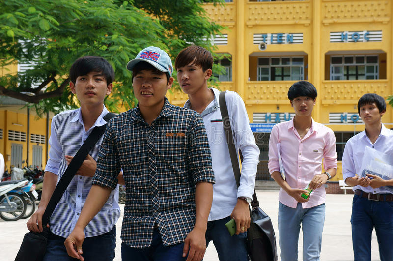 Βιετναμέζικος σπουδαστής γυμνασίου στοκ φωτογραφία με δικαίωμα ελεύθερης χρήσης
