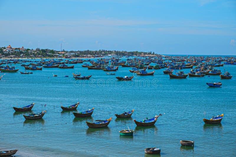 Βιετναμέζικο ψαροχώρι, ΝΕ Mui, Βιετνάμ, Ασία στοκ εικόνες