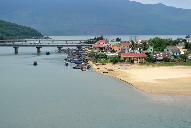 Βιετναμέζικο ψαροχώρι στοκ εικόνες με δικαίωμα ελεύθερης χρήσης