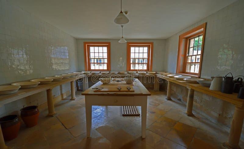 Βικτοριανό γαλακτοκομικό εσωτερικό σπίτι Essex τελών Audley στοκ φωτογραφίες με δικαίωμα ελεύθερης χρήσης
