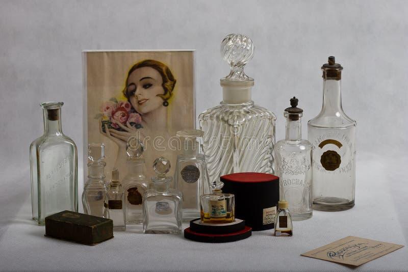 Βικτοριανό μπουκάλι αρώματος 1890 - 1935 στοκ εικόνα