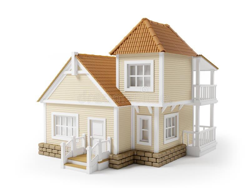 Βικτοριανό οικογενειακό σπίτι απεικόνιση αποθεμάτων