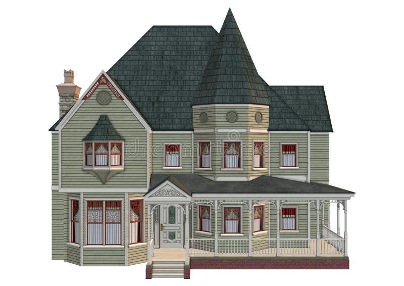 Βικτοριανό σπίτι διανυσματική απεικόνιση