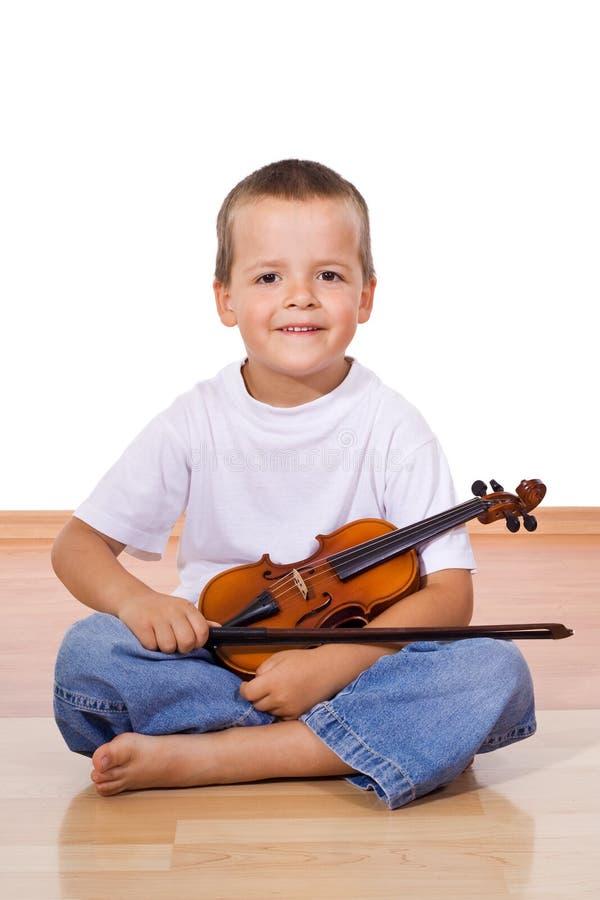 βιολί αγοριών στοκ εικόνες