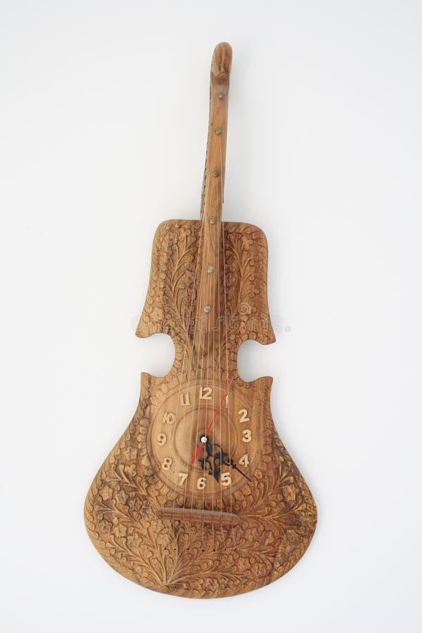βιολί και ρολόι-πρόσωπο στοκ εικόνα με δικαίωμα ελεύθερης χρήσης