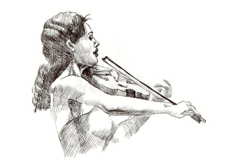 βιολί κοριτσιών ελεύθερη απεικόνιση δικαιώματος