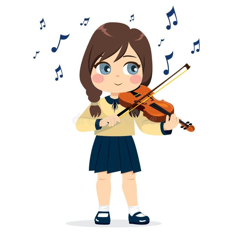 βιολί παιχνιδιού κοριτσ&iot ελεύθερη απεικόνιση δικαιώματος