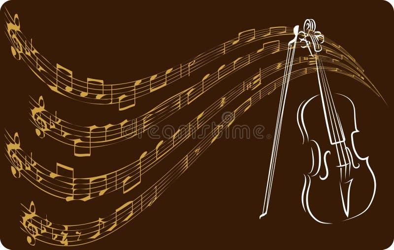 βιολί περιγραμμάτων ελεύθερη απεικόνιση δικαιώματος