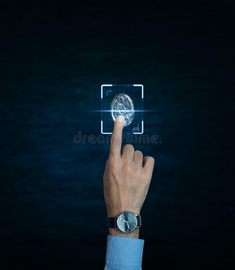 Βιομετρική έννοια προσδιορισμού στοκ εικόνες με δικαίωμα ελεύθερης χρήσης