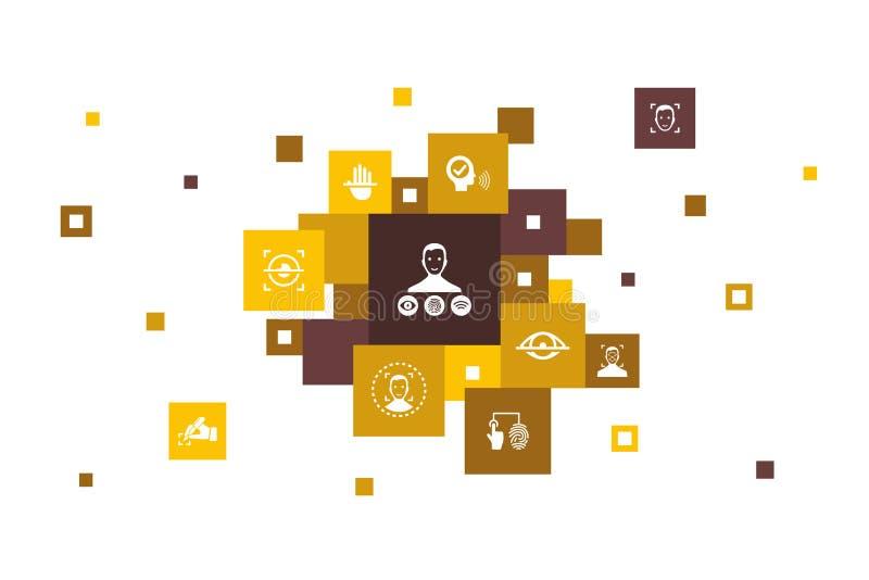 Βιομετρικός έλεγχος ταυτότητας Infographic 10 ελεύθερη απεικόνιση δικαιώματος